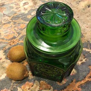 1960s Glass Cookie Jar | adorable kitschy 60s jar
